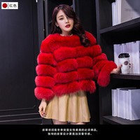 12 Colours 2017 Autumn Winter coat warm New Faux fur vest outerwear womens fashion FAUX fur coat
