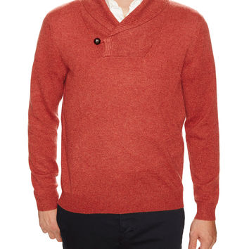 Dartmoor Men's Shawl Collar Cashmere Sweater - Red -