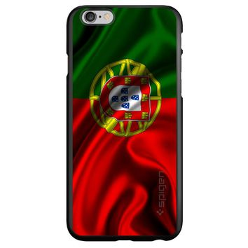 DistinctInk® Spigen ThinFit Case for Apple iPhone or Samsung Galaxy - Portugal Waving Flag
