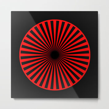 black and red Metal Print by netzauge