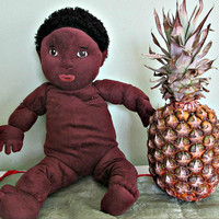 IKEA LEKKAMRAT African American BOY black hair, Baby Boy Doll, Collectible Doll, Home Decor