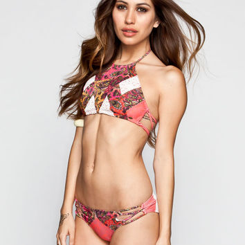 O'neill Festival Hipster Bikini Bottoms Coral Combo  In Sizes