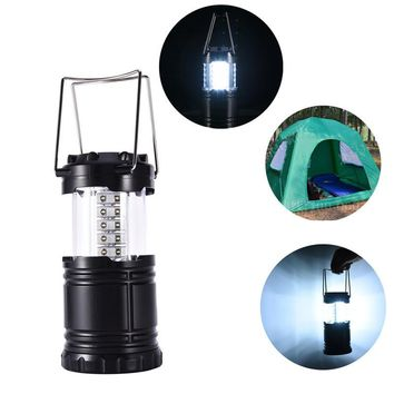 Portable Camping Lantern 30 LED Straw Hat Lamp Beads Cool Tensile Switch Waterproof Tent Light Convenient Outdoor Lighting