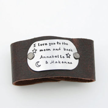 I love you to the moon and back w/child's by KennabelleDesigns
