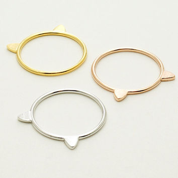 Cat Ring / Silver, Gold, Rose Gold / R084