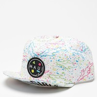 Maui & Sons Curls Flip Up Snapback Hat - Mens Backpack - White - One