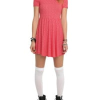 Teenage Runaway Red Skull Doily Collar Dress