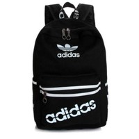 """Adidas"" Sport Travel Backpack College School Bag Laptop Bag Bookbag Black"