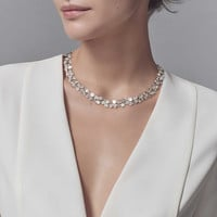 Tiffany & Co. - Tiffany Paper Flowers™:Diamond Cluster Necklace