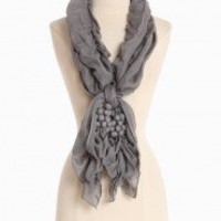 Richland Vinyard Scarf In Charcoal | Modern Vintage New Arrivals