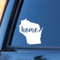 Wisconsin Home Decal | Wisconsin Decal | Homestate Decals | Love Sticker | Love Decal  | Country Decal | Car Decal | Car Stickers | 141