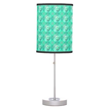 Teal Pearls Table Lamp