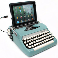 "USB Typewriter Computer Keyboard -- Smith Corona Sterling ""Mad Men"" Style"