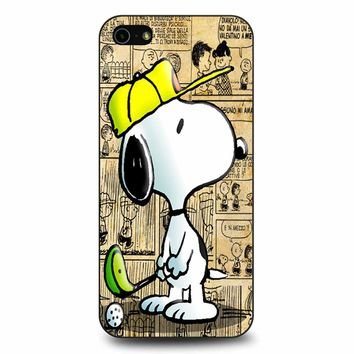 Snoopy Playing Golf iPhone 5/5s/SE Case