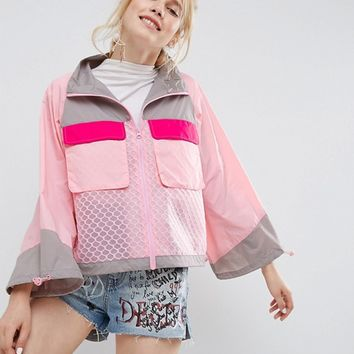 ASOS Rain Jacket With Mesh Panels at asos.com