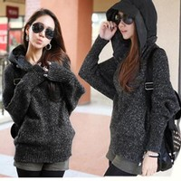 knitting coat Hooded-0-1