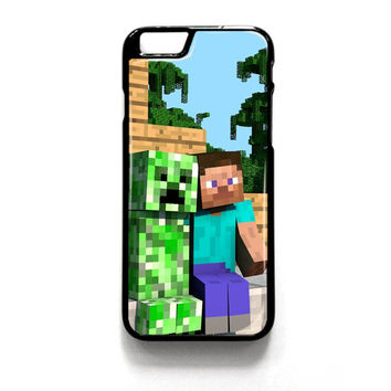 Minecraft Steve Creeper iPhone 4 4S 5 5S 5C 6 6 Plus , iPod 4 5  , Samsung Galaxy S3 S4 S5 Note 3 Note 4 , and HTC One X M7 M8 Case