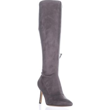 Nine West Knee High Stiletto Boots, Dark Grey, 9.5 US
