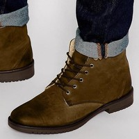 ASOS | ASOS Boots in Brown Leather with Fleece Lining at ASOS