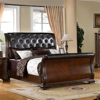 Furniture of America South Yorkshire Sleigh Bed | ATG Stores