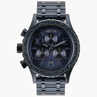 Nixon 38-20 Chrono Watch All Deep Blue Crystal One Size For Men 25938520001