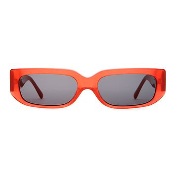 Crap Eyewear - Paradise Machine Deep Red  Sunglasses / Grey Lenses