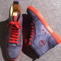 Cl Christian Louboutin Leather Style #2145 Sneakers Fashion Shoes - Best Deal Online