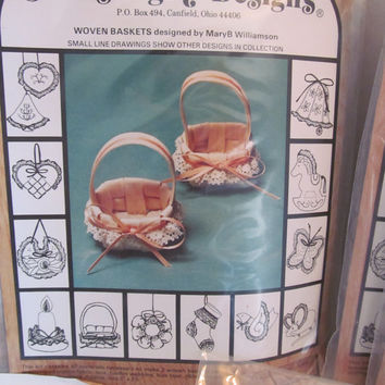 Craft Kits stuffed cloth Christmas ornaments  by Newstalgia Designs Baskets candles stockings bells wreaths