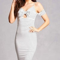 Striped Open-Shoulder Dress