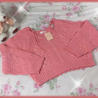 Liz Lisa Cropped Cable Knit Shoulder-Tie Sweater (NwT) from Kawaii Gyaru Shop