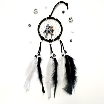Disney Nightmare before Christmas car dream catcher with Jack and Sally