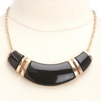 ENAMEL CRESCENT COLLAR NECKLACE