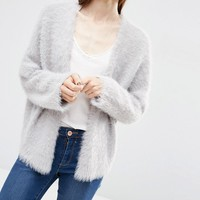 ASOS Cropped Cardigan in Fluffy Yarn