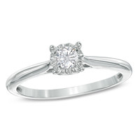 1/5 CT. Diamond Solitaire Engagement Ring in 10K White Gold