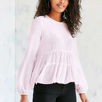 Kimchi Blue Tiered Babydoll Blouse - Urban Outfitters