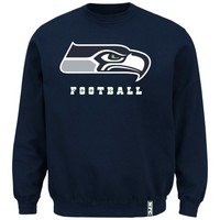 Seattle Seahawks Classic Heavyweight V Sweatshirt - College Navy