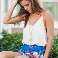 Carry On Tank, Ivory-Neon Pink