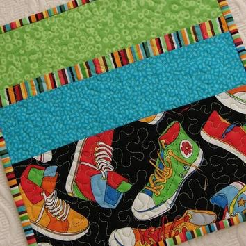 Quilted Placemats for Kids with Converse Sneakers