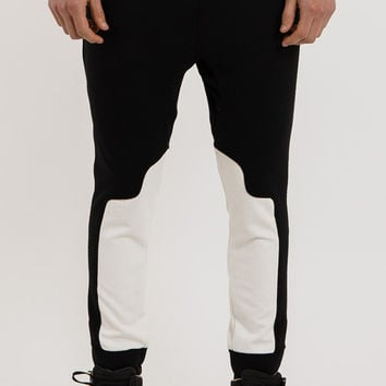 TR027 Colourblind Panelled Joggers - Monochrome