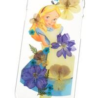 [Disney Store]Alice pressed flower iPhone 6/6s smartphone case cover: If you want to buy presents and gifts online, we recommend the Disney Store.