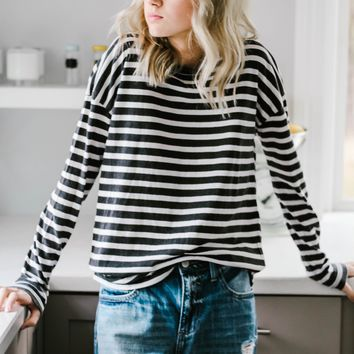 Let's Chill Out Today Stripe Top
