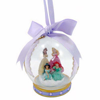 disney parks christmas ornament glass ball 4 princess purple jasmine new with tag