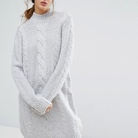 Gestuz Sanni Alpaca Wool Mix Jumper Dress at asos.com