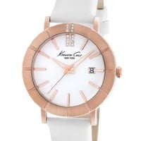 Kenneth Cole New York Women's KC2743 Classic Rose Gold Bezel Etched Markers Watch