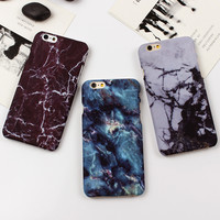 Retro Marble Texture Case Ultra Thin Smooth PC Hard Case For iphone 7 7 Plus 6 6s 6 Plus 5 5s SE Accessories Back Cover Fundas