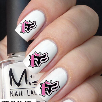 pink fox racing  Nail Decals nail decal nail art nail sticker