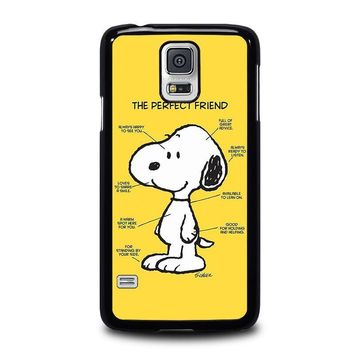 snoopy dog perfect friend samsung galaxy s5 case cover  number 1