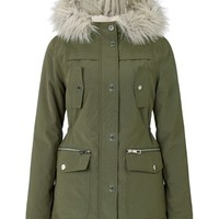 Michelle Keegan Faux Fur Hood Parka Jacket
