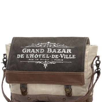 Myra Bag Grande Bazar Up-cycled Canvas Messenger