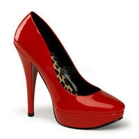 Red Harlow Shoes by Pin Up Couture - Pin Up Couture - Shoes